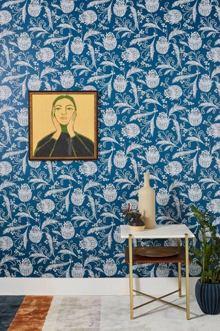 Rigby Wallpaper Unique Wallpaper Floral Wallpaper Bathroom Wallpaper
