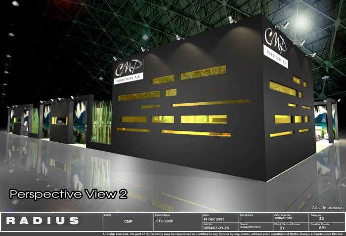 Exhibition Booth Inspiration : Minimalist booth design siow exhibit
