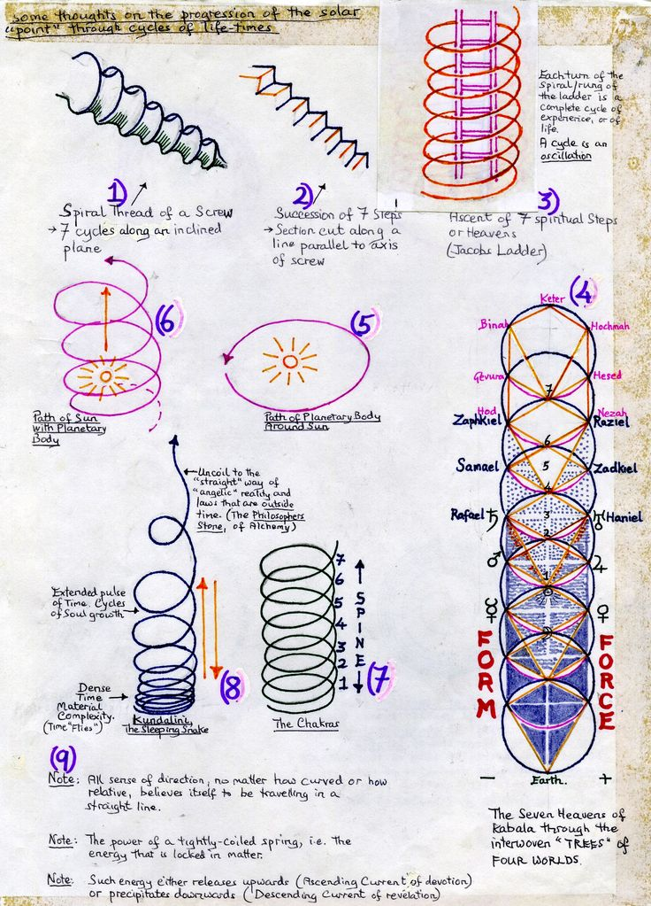 ... The Chakras on the Tree of Life · spirals & jacobs ladder