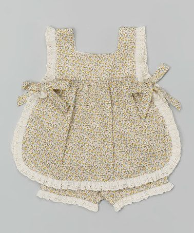This Brown Apron Tie Top & Bloomers - Infant & Toddler is perfect! #zulilyfinds