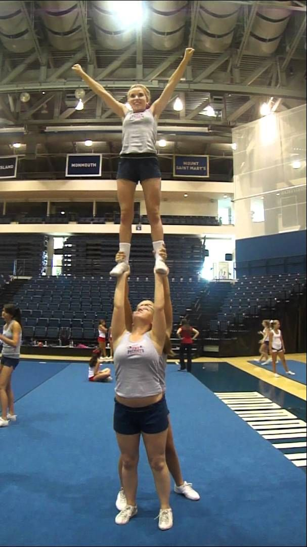 single base stunt. My girls will perfect this, this season.