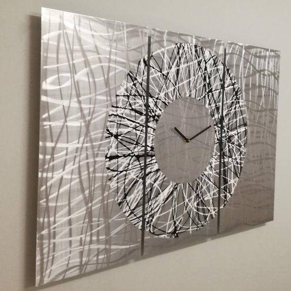 Unique Wall Clock Modern Wall Clock Industrial Wall Clock Etsy In 2021 Contemporary Wall Clock Unique Wall Clocks Wall Clock Modern