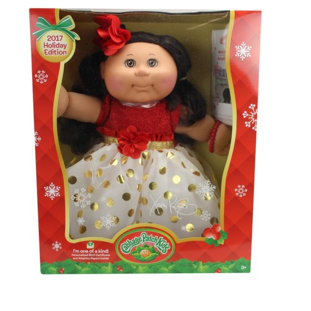 2017 Holiday Edition 14 Cabbage Patch Doll Black Hair Eyes New Damaged Box Cabbage Patch Kids Dolls Cabbage Patch Kids Patch Kids