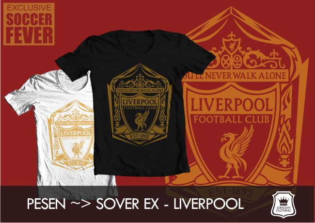 "Kaos LIVERPOOL ""YOU'LL NEVER WALK ALONE"" [READY STOCK]  @BolaBolatshirt"