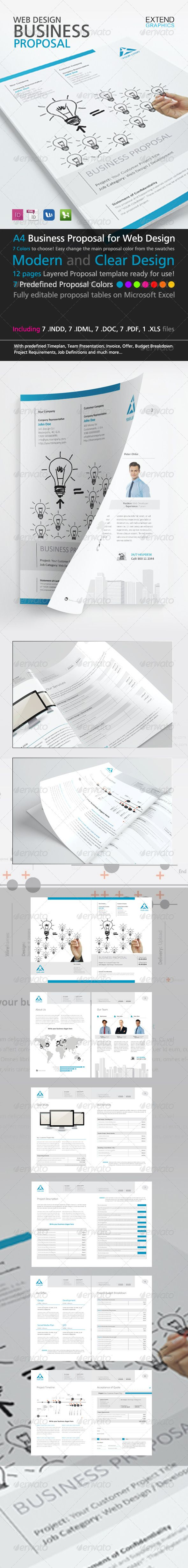 Web Design Business Proposal Template - Proposals & Invoices Stationery