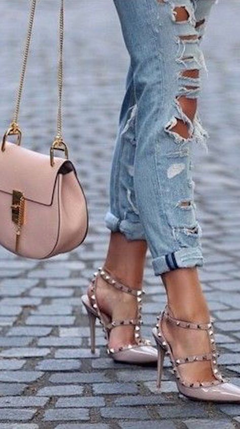 Chloe handbag and Studded Valentino's