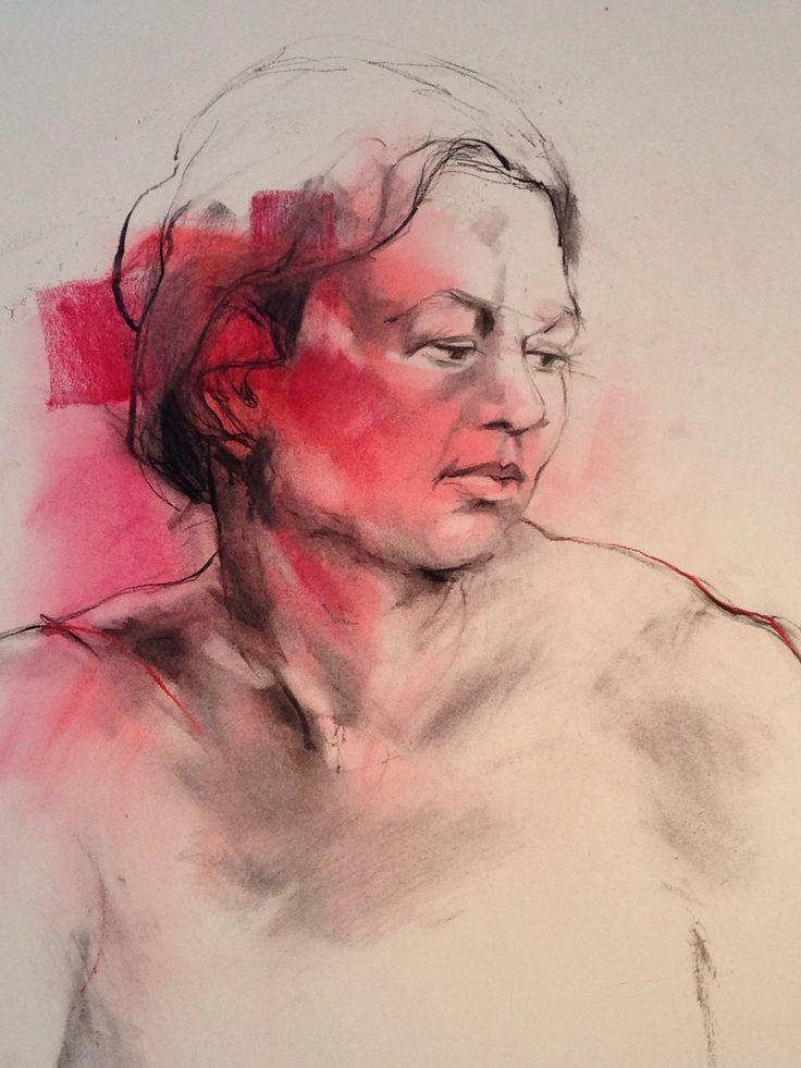 Charcoal and pastel. Linda Rademan