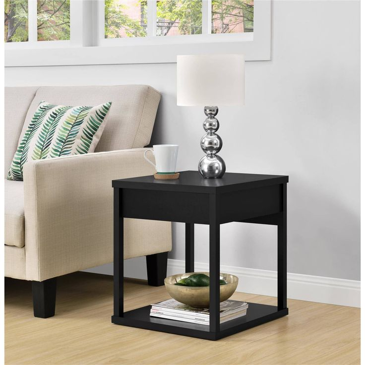 Ameriwood Home Parsons End Table with Drawer