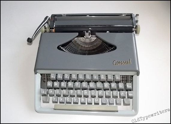 Vintage Working Czech Portable Manual Typewriter by OldTypewriters