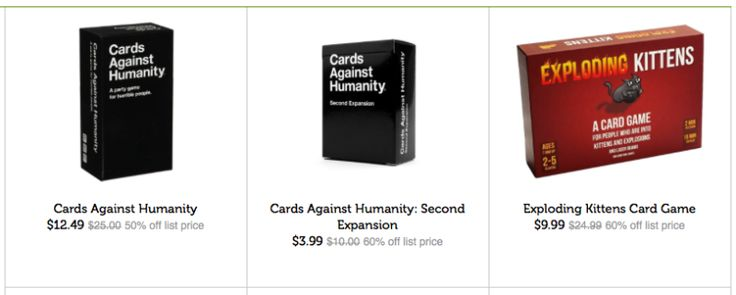 Lowest Prices Ever - Cards Against Humanity & Exploding Kittens Games On Sale!