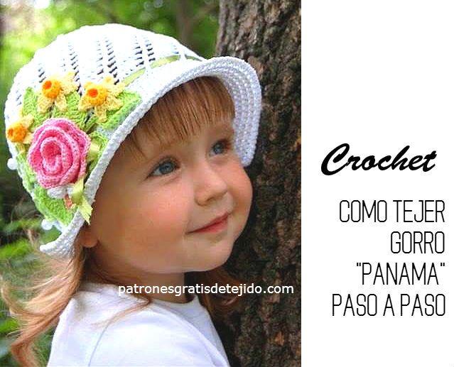 COMO TEJER GORRO PANAMA CON CROCHET