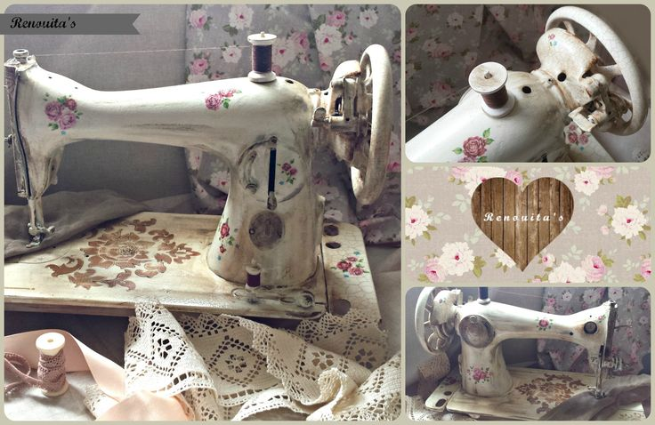 #sewing #sewingmachine #vintage #decoupage #makeover #beforeandafter #crafts #renouitas