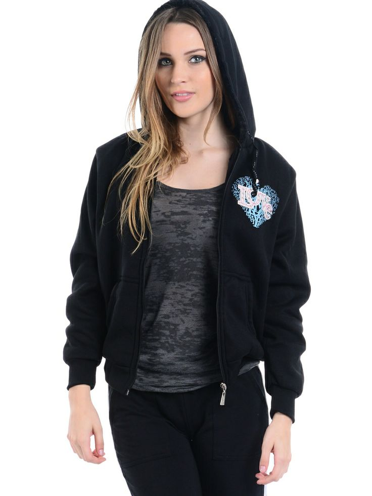 Black Love Zip Up Hoodie Outfit... | Black | Pinterest