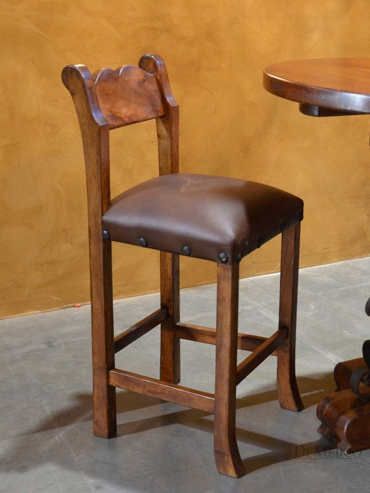 The Circa Barstool Is A Traditional Spanish Colonial Barstool Made From  Mesquite Wood.