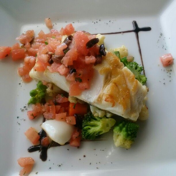 Cabillaud fish with vegetables
