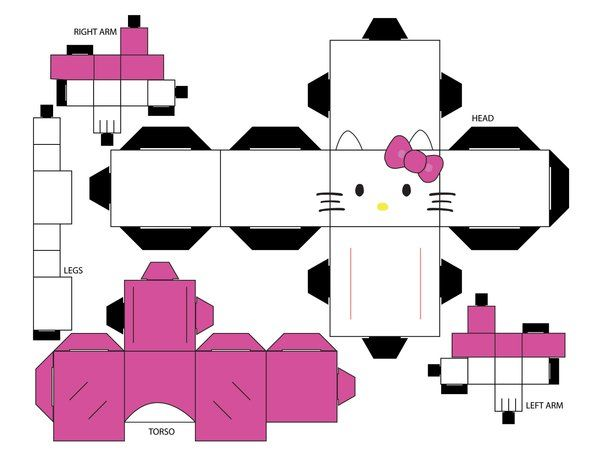 Hello Kitty Cubee Template By EliseIsVain On DeviantART Boxes And