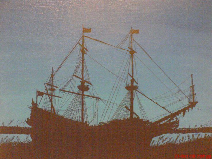 ζωγραφική σε καμβά με την χρήση  ραμπιδιγράφου