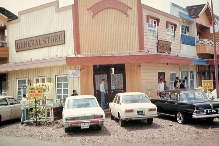 A row of shops in Melawai Street, Blok M, Jakarta in 1978.