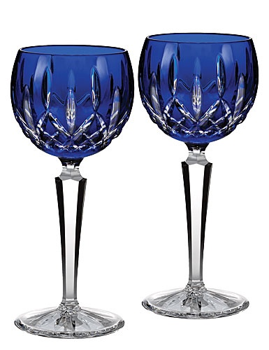 Waterford Lismore Cobalt Hock Wine pair.  I want to start collecting this in blue, purple, green, and red.
