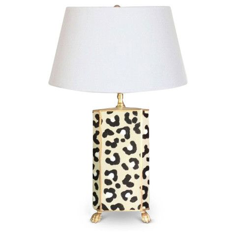 hand painted white leopard lamp animaux mains et lampes. Black Bedroom Furniture Sets. Home Design Ideas