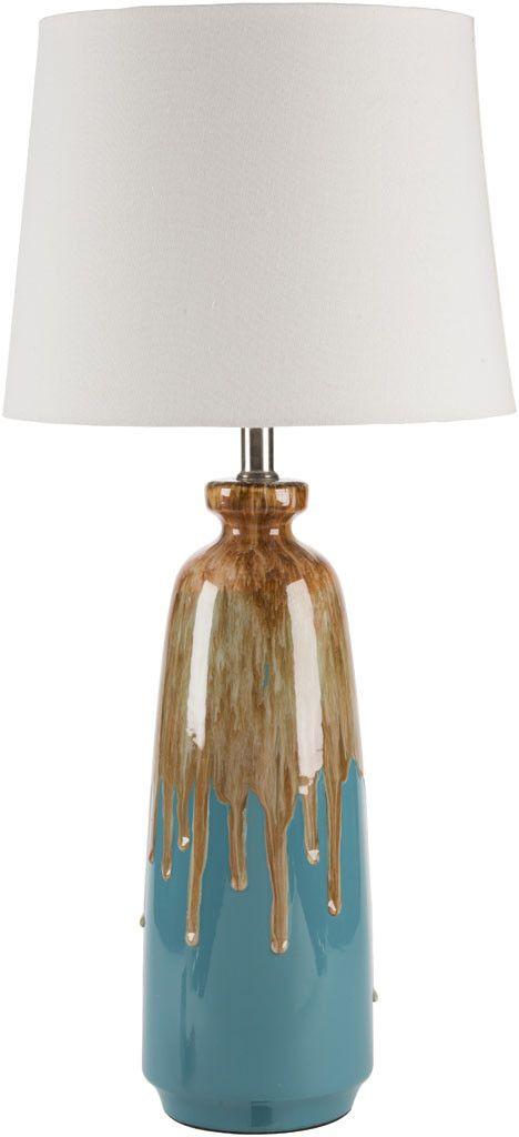 Lagoon Blue/Brown Table Lamp