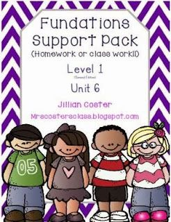 FUNdations support pack Unit 6. Level 1 | Fundations. Trick words. First grade words