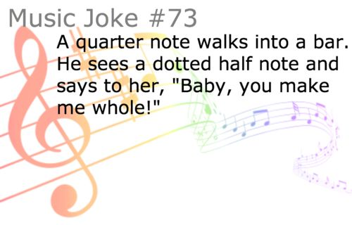 """Teehee- music jokes :-) this could get me into """"Treble""""! haha; see what I did there??"""