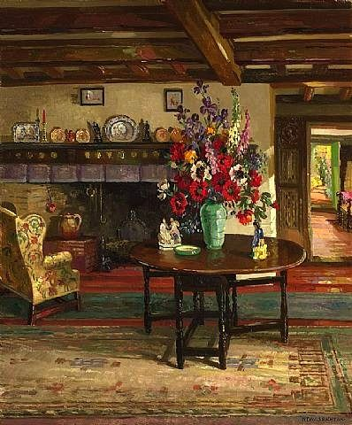 Miss Marple's house in St. Mary Mead? Herbert Davis Richter  Old English Interior  1937