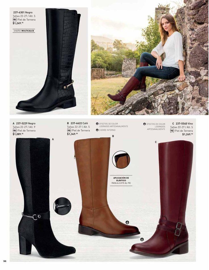 Botas casuales para mujer de tubo largo, catalogo andrea verano. #ZapatosAndrea #Andrea