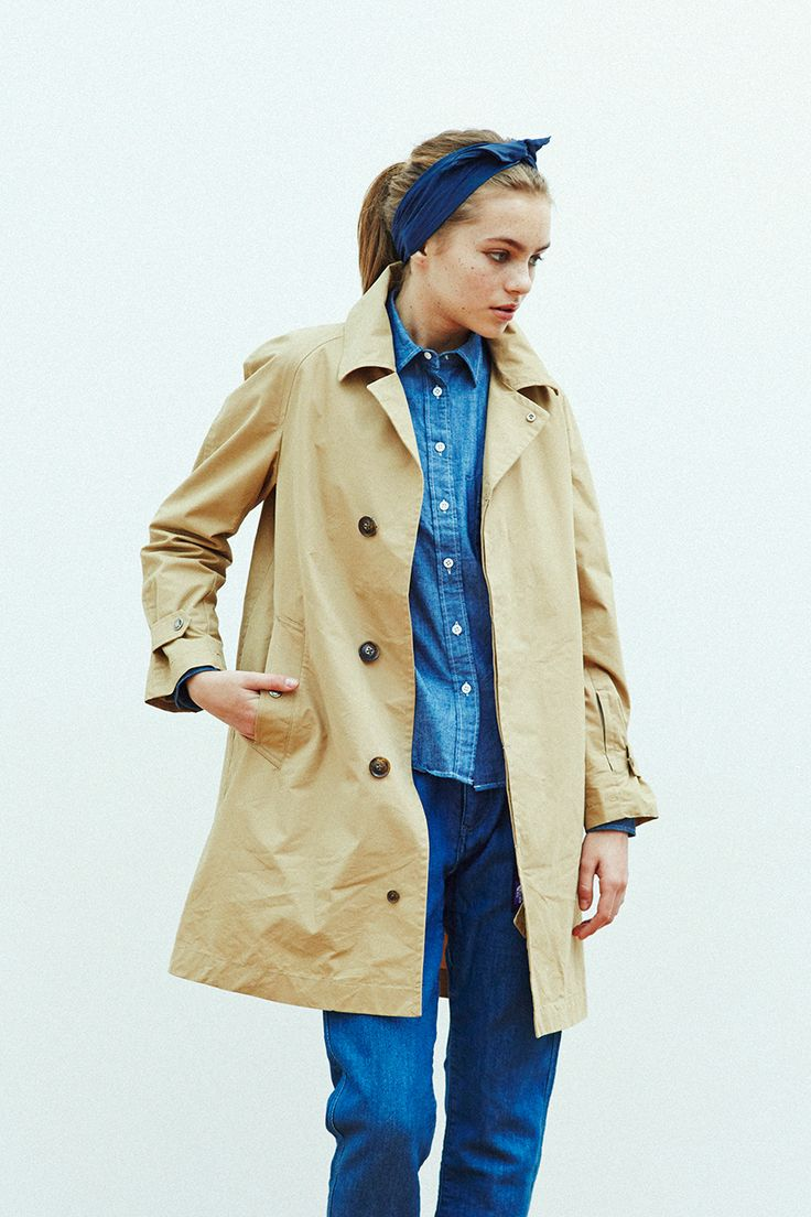 Denim and a trench.