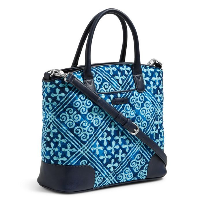 Day Off Satchel In Cuban Tiles Pattern Vera Bradley