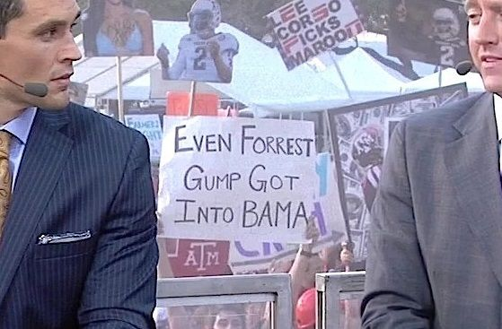 Texas A&M Representing Well on College Game Day With Signs | FatManWriting
