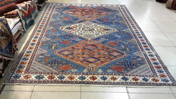 9.5 by 6.3 feet. Free shipping. Turkish rug. 100% by turkishrugman