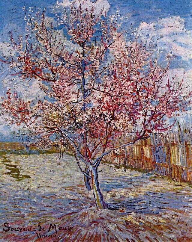 Vincent Van Gogh, peach tree, Painting, peinture, van, gogh, vincent. Upliked by jcp333 | Art de ...