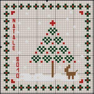 Il mio regalino per questo Natale è un cuscinetto augurale che potrete eseguire in breve tempo usando tanta fantasia per rifinirlo. Io ho usato del lino grezzo. I colori DMC sono 666 Christmas red ...