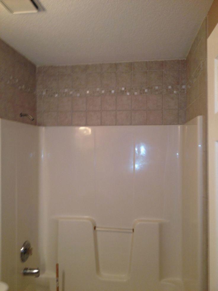 Tile Around The The Fiberglass Tub In 2020 Tiny House Bathroom