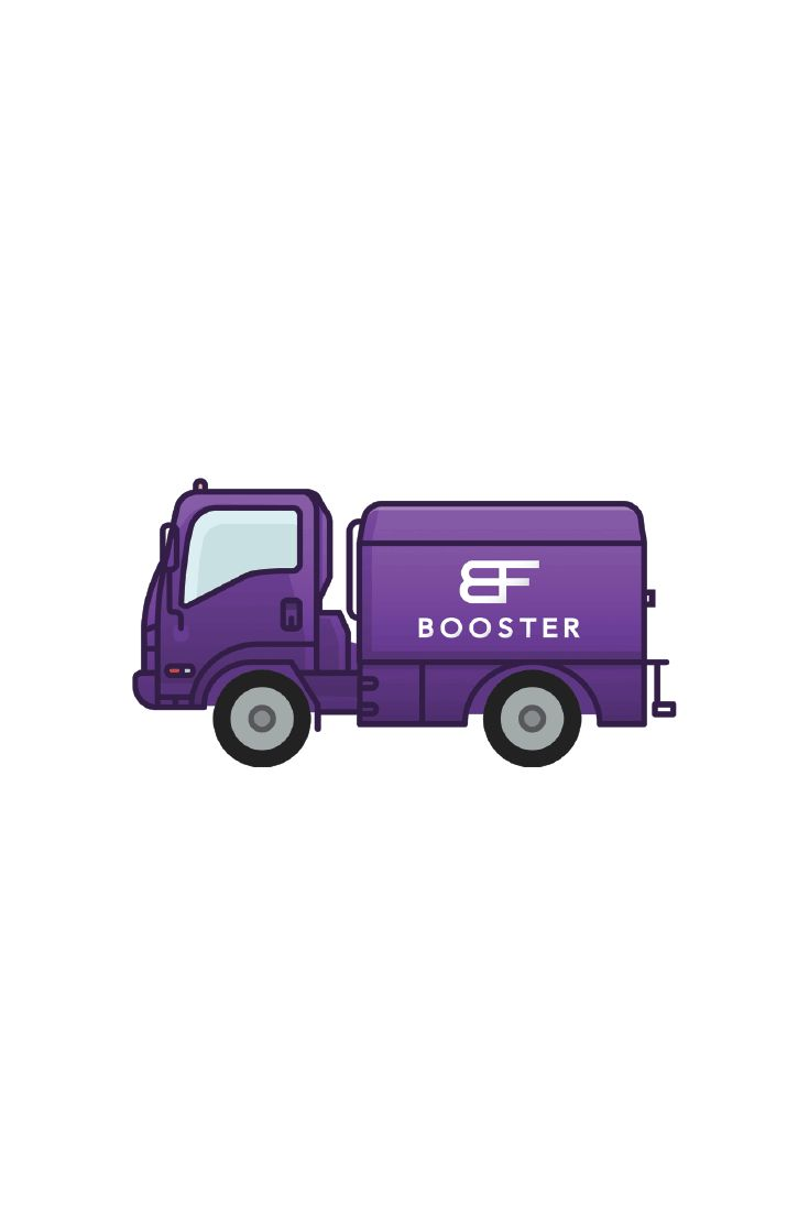 Get a boost of fuel where your car is parked with Booster Fuels as they offer an app based gas delivery featuring an epic custom sticker to help drivers pin point your car.
