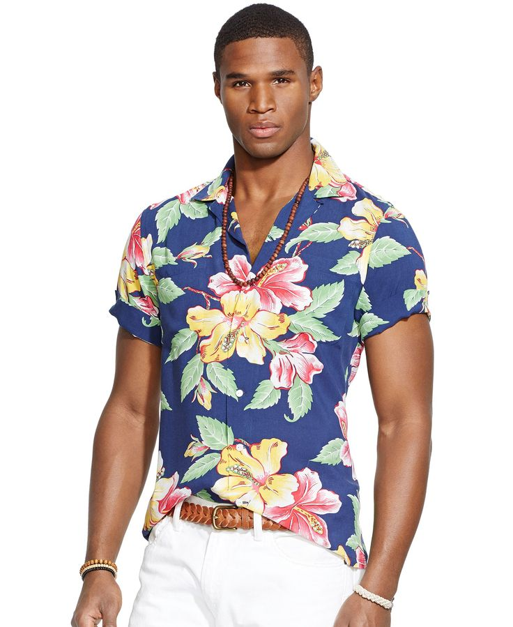 Bloom This Spring With A Bold Print Short Sleeve Button