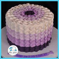 Ombre Buttercream Petal Cake