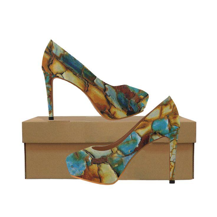 Rusty texture Women's High Heels