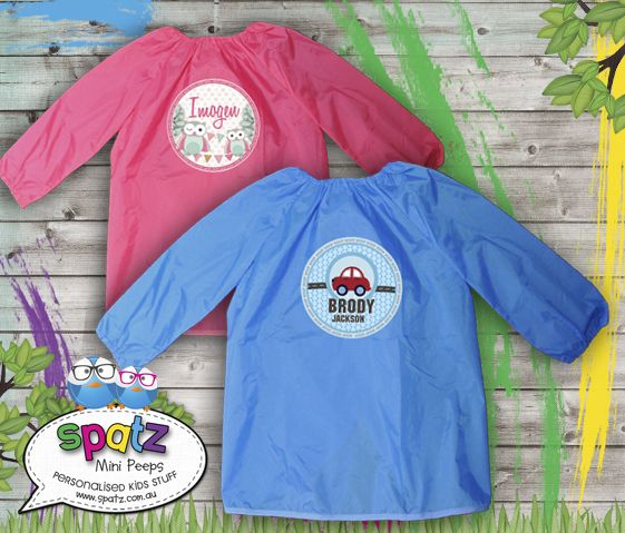 Personalised Kids Art Smocks - Waterproof