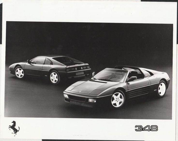 1989 FERRARI 348 TB & TS ORIGINAL PERIOD FACTORY PRESS PHOTOGRAPH FOTOGRAFIA