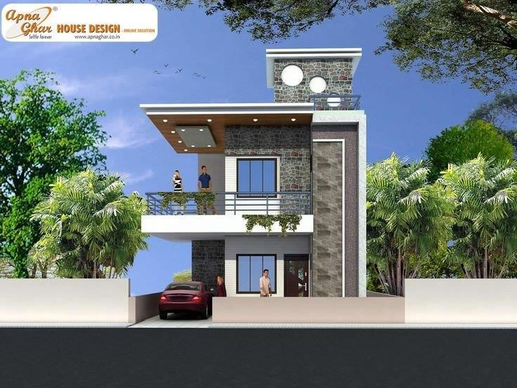 Best 25 front elevation designs ideas on pinterest for Front view of duplex house in india