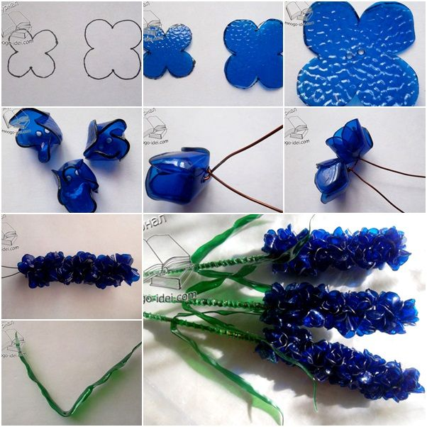 How to DIY Beautiful Hyacinth Bouquet from Plastic Bottles tutorial and instruction. Follow us: www.facebook.com/fabartdiy
