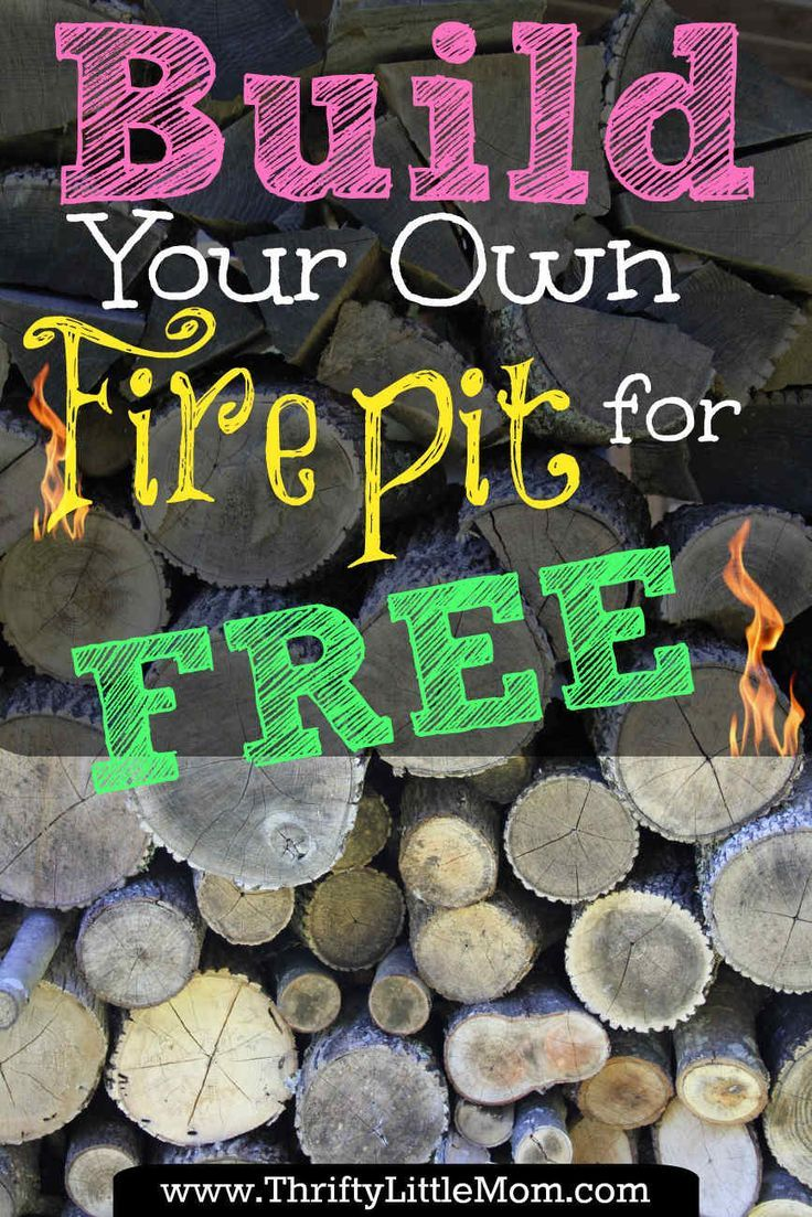 Build Your Own Backyard Fire Pit Using Free Materials ... on Building Your Own Outdoor Fireplace id=94051