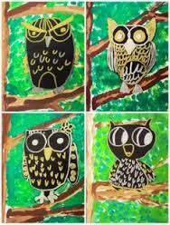 Image result for The owl who was afraid of the dark art ideas