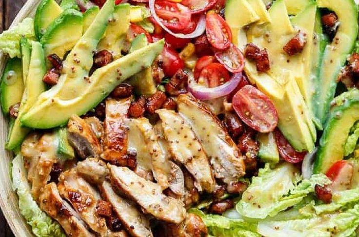 Recette : Salade repas au poulet.