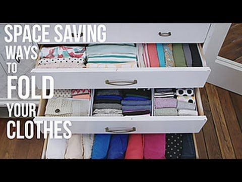 How to Fold Your Clothes to Save Space - HGTV. https://www.facebook.com/HGTV/videos/10154834588799213/