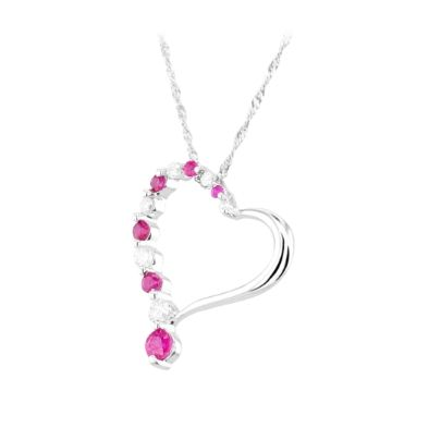 33 best july birthstone carnelian ruby images on pinterest july 9ct white gold diamond ruby open heart pendant tp10133 9kw ruby aloadofball Gallery