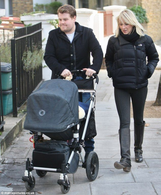 James Corden takes a stroll out with his Bugaboo
